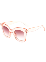 Transparent Frame Gradient Lens Outdoor Butterfly Sunglasses -