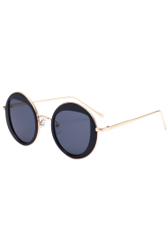 Cat Eye Lens Metal Round Sunglasses