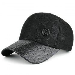 Sunscreen Lace Spliced Baseball Hat - BLACK