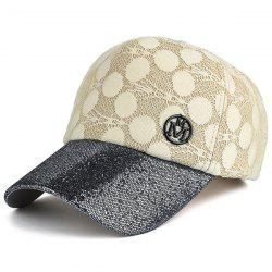 Sunscreen Lace Spliced Baseball Hat