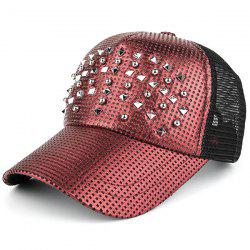 Outdoor Rivet Mesh Spliced Baseball Hat