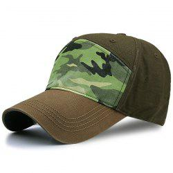Sunscreen Army Camouflage Print Spliced Baseball Hat