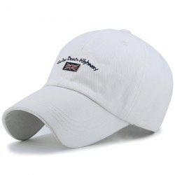 Letter Flag Embroidered Sunproof Baseball Hat