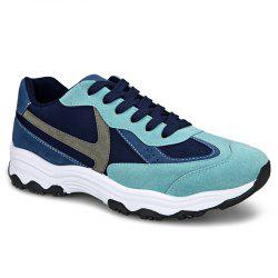 Colour Block Suede Insert Athletic Shoes