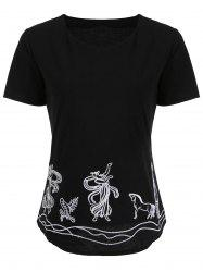 Short Sleeve Embroidered Tee
