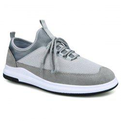 Lace Up Stretch Fabric Insert Casual Shoes
