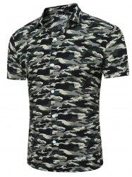 Short Sleeve Breathable Camouflage Shirt