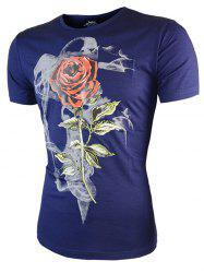 Rose Pattern Short Sleeves T-Shirt