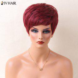 Siv Hair Pixie Layered Straight Natural Short Cut Human Hair Wig