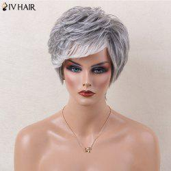 Siv Hair Colormix Side Bang Layered Straight Short Human Hair Wig