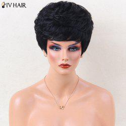 Siv Hair Layered Side Bang Short Natural Curled Human Hair Wig