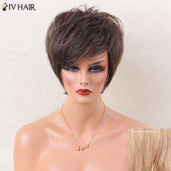 Siv Hair Short Layered Shaggy Side Bang Straight Human Hair Wig