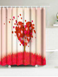 Grass Heart Tree Waterproof Fabric Bathroom Shower Curtain