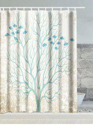 Tree Snow Fish Polyester Waterproof Shower Curtain
