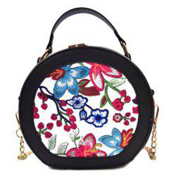 Flower Embroidery Chain Canteen Bag