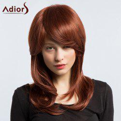 Adiors Long Silky Slightly Curled Inclined Bang Synthetic Wig