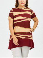 Two Tone Plus Size Chiffon Tunic Top