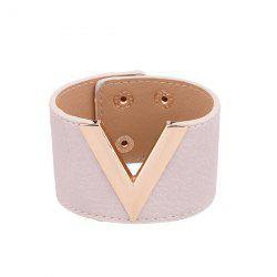 Punk Faux Leather V Shaped Bracelet -