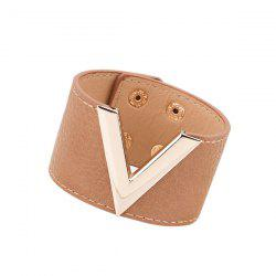 Punk Faux Leather V Shaped Bracelet