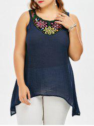 Plus Size Sleeveless Open Back T Shirt