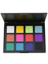 12 Colours Shimmer Matte Powder Eyeshadow Palette - #02