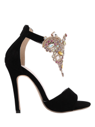 Gorgeous Stiletto Heel and Colorful Rhinestone Design Sandals For Women -