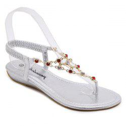 Chains Rhinestones Metallic Color Sandals