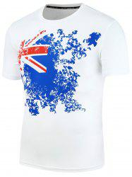 Union Jack Print Short Sleeve T-Shirt