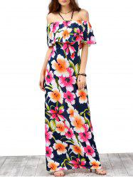 Off The Shoulder Floral Maxi Dress
