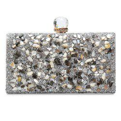 Chains Rhinestone Gravel Evening Bag