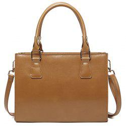 Cross Body Faux Leather Tote Bag -