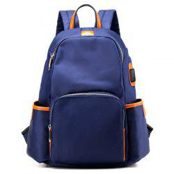Casual Side Pockets Satin Backpack