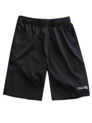 Zipper Pockets Sports Shorts