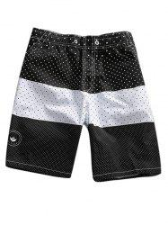 Color Block Polka Dot Print Shorts