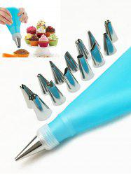 Squeeze Cream Tools Cake Decorating Stainless Steel Pastry Piping Nozzle Set - SKY BLUE