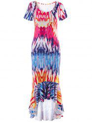 Tie Dye Mermaid Asymmetrical Dress