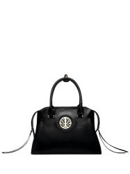 Faux Leather Metal Embellished Tote Bag