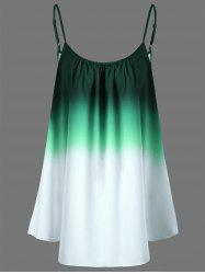 Ombre Plus Size Cami Top - GREEN XL