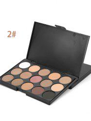 15 Colours Shimmer Matte Powder Eyeshadow Palette - #02