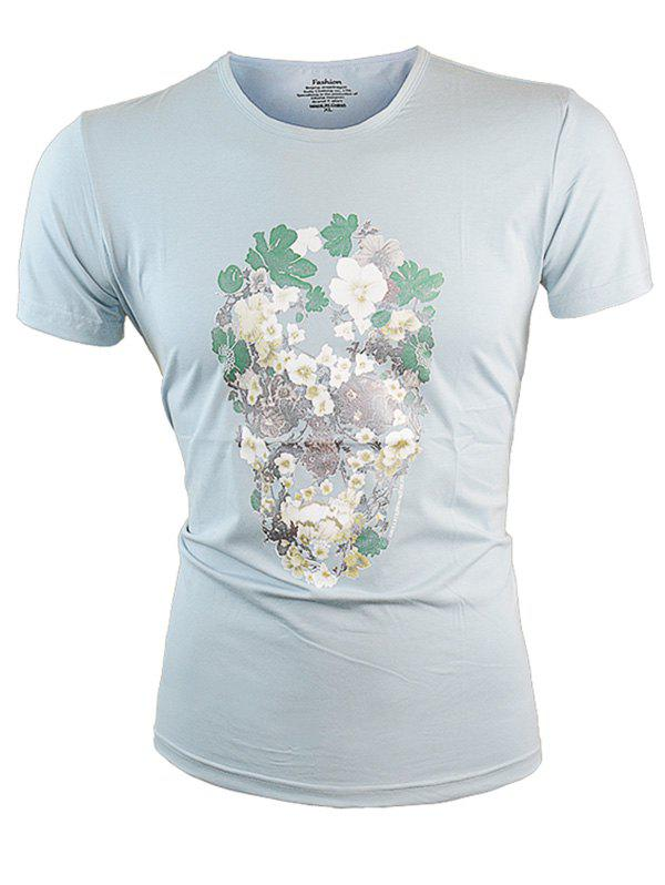 Outfits Short Sleeves Floral Print Tee
