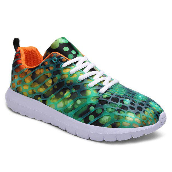 Fancy Breathable Printed Athletic Shoes