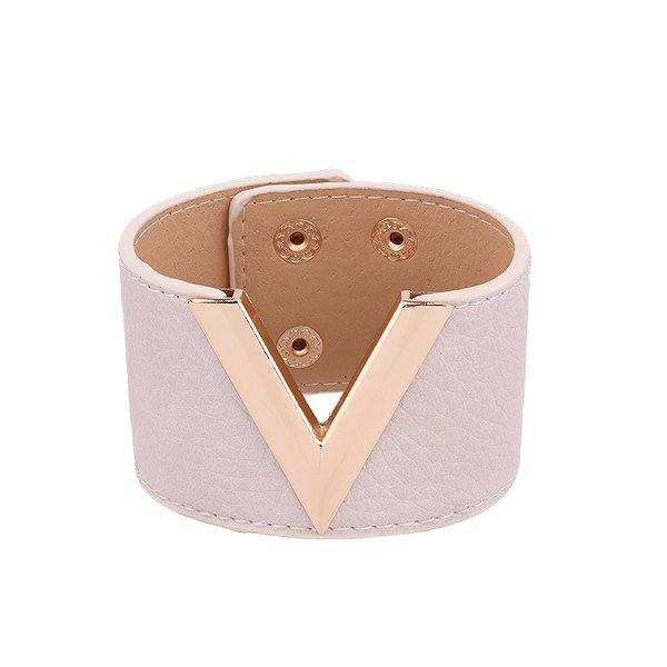 Outfit Punk Faux Leather V Shaped Bracelet