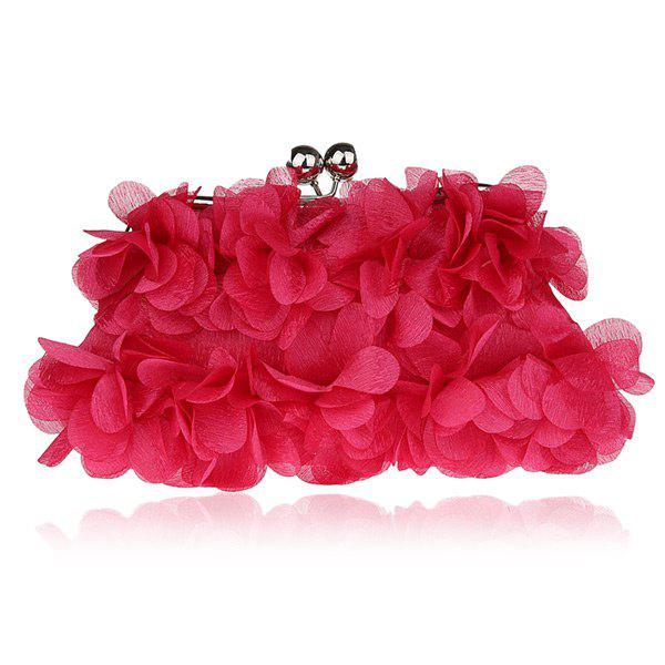 Chic Kisslock Petal Satin Evening Bag