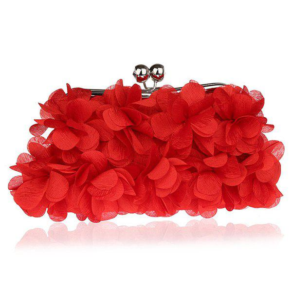 Kisslock Petal Satin Evening Bag