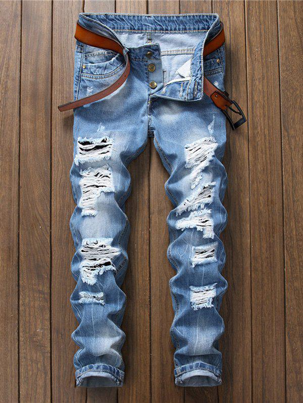 Shops Straight Leg Ripped Jeans