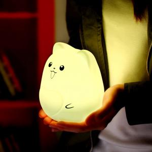 Color Change USB Charge Cartoon Pet Silicone LED Night Light - White - M