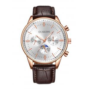 Faux Leather Strap Quartz Watch