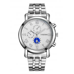 Alloy Strap Roman Numeral Wrist Quartz Watch