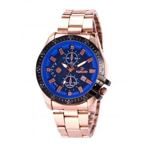 Date Steel Strap Analog Quartz Watch