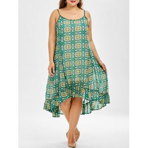 Chiffon Printed Plus Size Swing Dress